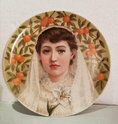 Exceptional Aesthetic Movement Painted Plate - 31cm in diameter
