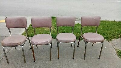 Vintage  Retro  Set Of 4 Kitchen Chairs  Pick Up Only