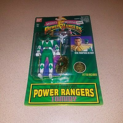1994 Bandai Mighty Morphin Power Rangers AutoMorphin Tommy/Green Figure (New MT)