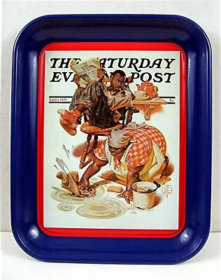Scrubbing The Floor Sat Evening Post 1939 Image Metal Tray Old Store Stock