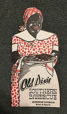 Old Dixie Southern Bbq Black Americana Lady Savannah Ga Restaurant Menu