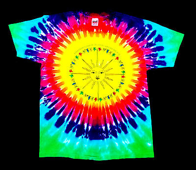 Grateful Dead Shirt T Shirt Vintage Golden Road Sun Bears Tie Dye 1988 GG GDM XL