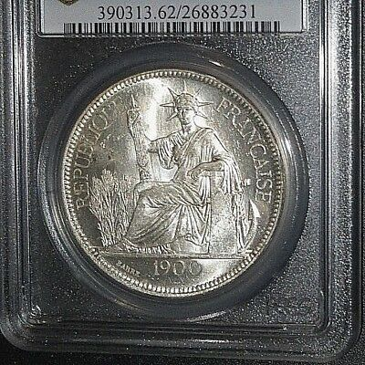 French Indo-china, Piastre, 1900, Silver, PCGS MS-62, Proof-like