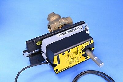 """Invensys 3/4"""" 3-Way Ball Valve w/ MF41-6043 35 lb-in Floating Damper Actuator"""