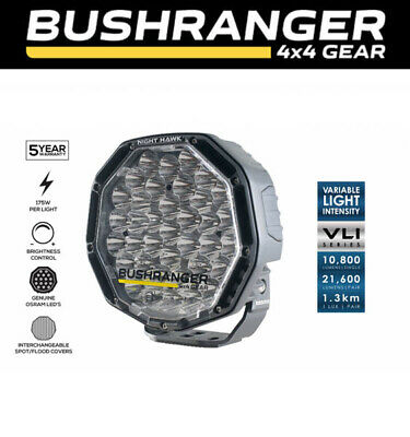 "Bushranger Night Hawk VLI Series 9"" Driving Lights LED Spotlight Round 4X4 4WD"