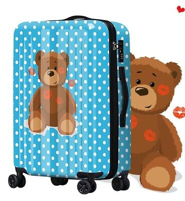 E120 New Lip Bear Universal Wheel Traveling Suitcase Luggage 24 Inches W