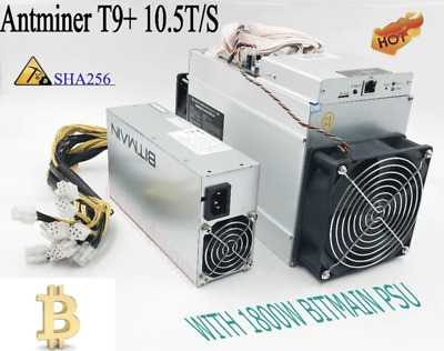 AntMiner T9+ 10.5 TH/s Bitcoin miner + Power Supply
