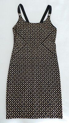 ***versace Collection Abito Donna Embellished Jersey Dress In Black Sz 42 (Us 6)