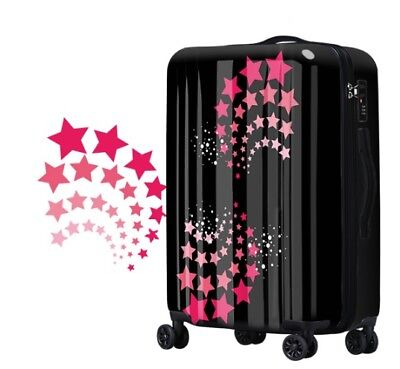 E153 Lock Universal Wheel Star Black Travel Suitcase Cabin Luggage 24 Inches W