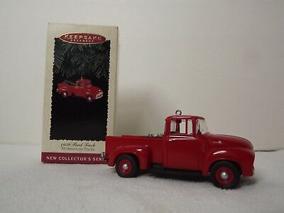Hallmark 1995 Christmas Ornament 1956 Ford Truck with tree