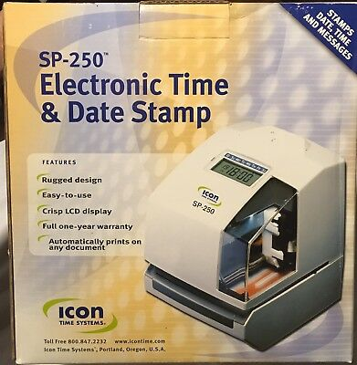 Icon Time Systems SP-250 Electronic Time Clock with Time and Date Stamp