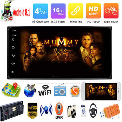 7In 2DIN 4-Core Android 8.1 Car Stereo MP5 Player GPS Navi AM FM Radio WiFi BT