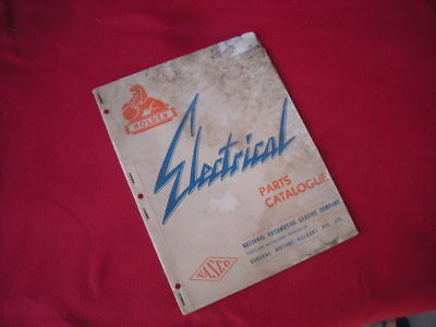 Vintage HOLDEN 'Electrical' Parts CATALOGUE, 1961 -NASCO, FX FJ FE FC FB EK, GMH