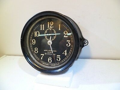 Seth Thomas WW2 US Navy Mark 1 Deck Clock US Navy 1941 Mk1 Pehnoic Case