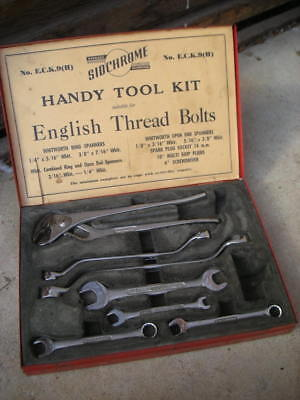 Vintage Siddons SIDCHROME 'Handy Tool Kit', ECK9- Spanners, Multigrips-Whitworth