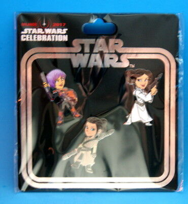 Star Wars Heroines Pin Set Celebration Exclusive 2017 Sold Out