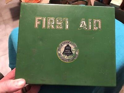 Vintage Bell System First Aid Kit 1920's-30's