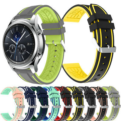 For Samsung Galaxy 46mm GearS3 Classic Watch Band Replacement Silica Wrist Strap