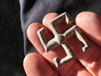 Roman Lead Broach/Fibula Rare Find