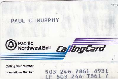 Long Gone.    Pacific Northwest Bell Calling Card.