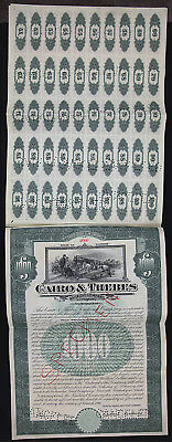 Cairo and Thebes $1000 bond 1911