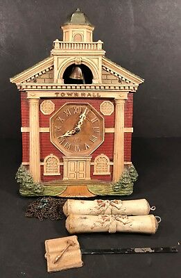 Vintage Lux Town Hall Cuckoo Clock Bell Striking Excellent
