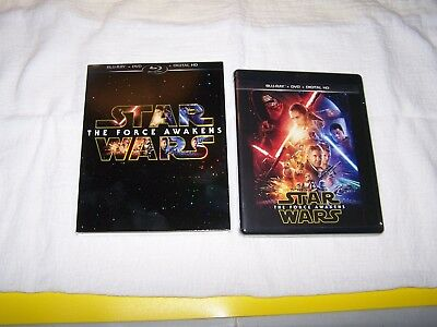 Star Wars: The Force Awakens (Blu-ray/DVD, 2016, 3-Disc Set, Includes Digital...