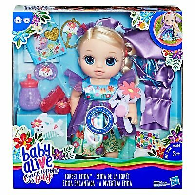 Baby Alive Once Upon a Baby: Forest Tales Forest Emma (Blonde Straight Hair) NEW