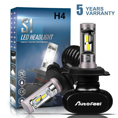 CREE H4 HB2 9003 1700W 255000LM LED Headlight Kit Hi/Lo Bulbs 6000K High Power
