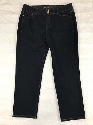 Lane Bryant Womens Jeans Size 20 Short High Rise Straight Leg Tighter Tummy Dark