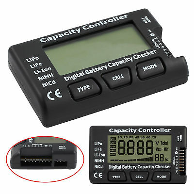 Digital Battery Capacity Tester Checker Controller LCD For LiPo NiMH Li-ion AU
