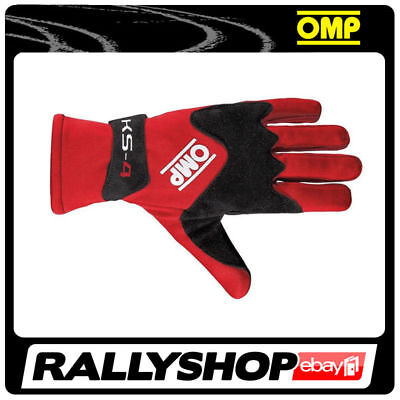 OMP KS-4 Gloves, size XXS, Red Karting non-slip Kart Rally Race Driving Comfort