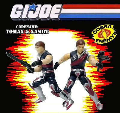 2002 Tomax & Xamot GI JOE A Real American Hero Figures Crimson Guard Commanders