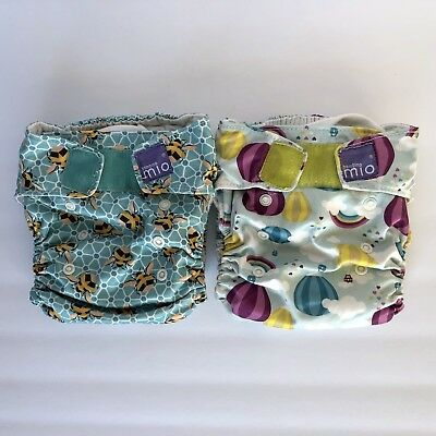Bambino Miosolo All In One Cloth Diaper Lot Of 2, Bumble And Up Up & Away