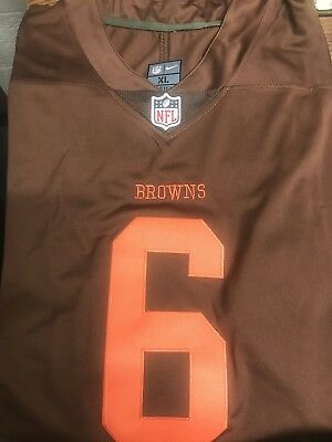 f2c56af66df CLEVELAND BROWNS COLOR Rush Jersey Baker Mayfield #6 NFL Stitched XL ...