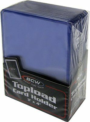 "100 3"" x 4"" BCW Card Topload Holders (toploaders) AND 100 BCW Penny Sleeves"