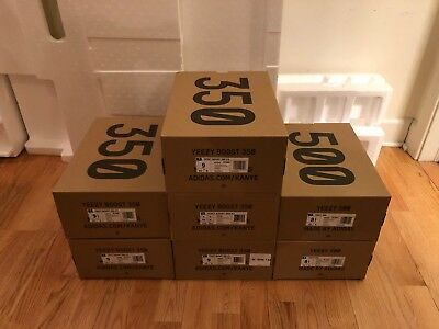 NEW Authentic Empty Yeezy Boost 350 V2 and Yeezy 500 Boxes Only plus Extras