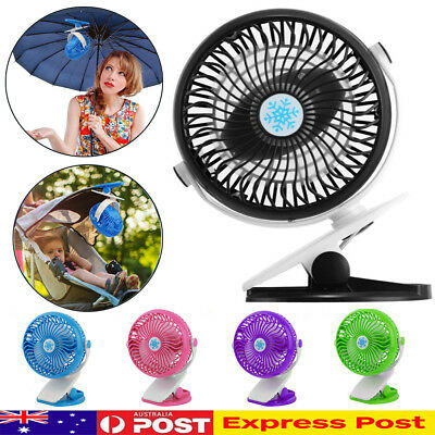 AU Clip On Mini Fan USB Cooling Strong Airflow Desk Table Notebook Laptop Office