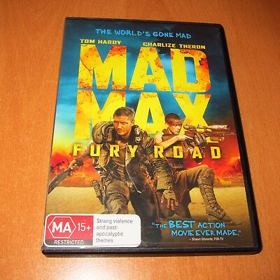 Mad Max : Fury Road ( 2015 , Dvd ) Tom Hardy , Charlize Theron ~ Very Good !