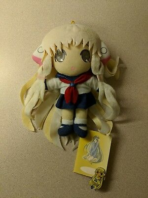 "Chii in Sailor Uniform UFO Catcher 7.5"" Plush Toy Chobits CLAMP WITH tag and PIN"