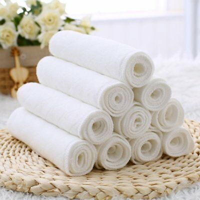 10pcs Disposable Baby Diapers Bamboo Eco Cotton Diapers Baby Nappy Liners 2L