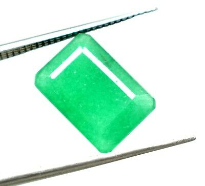 5.45 CT Natural Beautiful Emerald Cut Green Emerald Igl Cert Online Verify