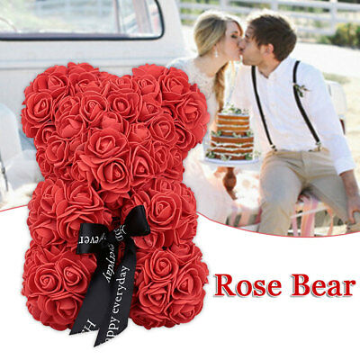 2019 Teddy Bear Lovely Big Red Rose Flower Bear Toys Creative Mother'S Gifts