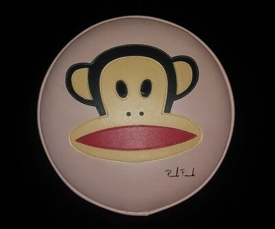 "Vintage PAUL FRANK Julius The Monkey Face 20"" Leather Top STOOL PINK"