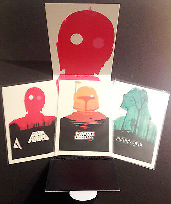STAR WARS Olly Moss 3 Card Collection - Mondo Limited Edition Set - 1 of 1000