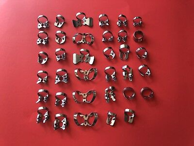 Dental Clamps 35-Pcs  /  Endodontic Clamps / Rubber Dam Clamps Dental Instrument