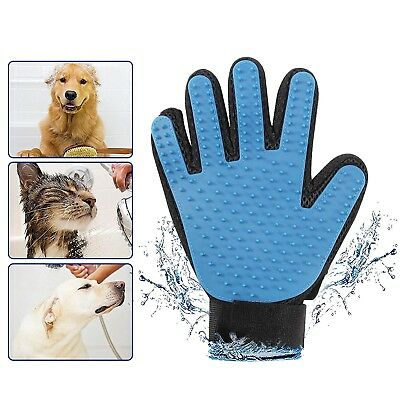 Pet Grooming Gloves Mitts Bathing Massage Brush Glove Comb for Long & Short Hair