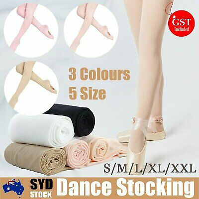 Convertible Tights Dance Stockings Ballet Pantyhode Size Children Adult 3 Colour