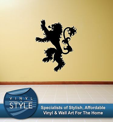 Game Of Thrones Lannister Logo Lion Decal Decor Sticker Wall Art Graphic