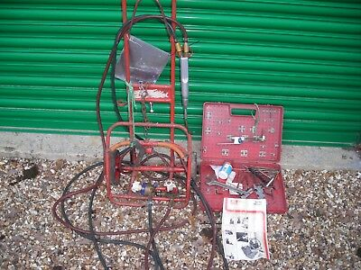 Saffire Portopak Welding Trolley with hoses/ guages etc in as seen condition